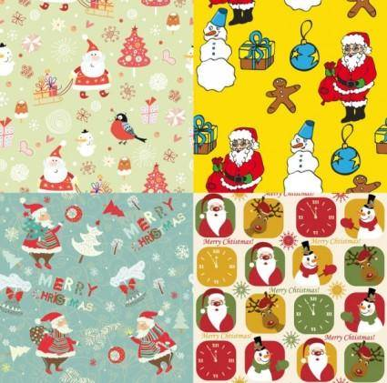 free vector Cute santa claus wallpaper vector