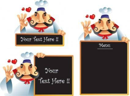 free vector Chef menu vector