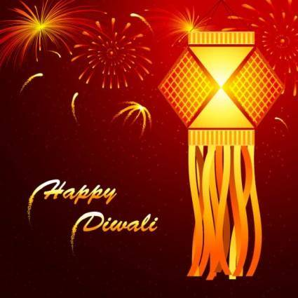 free vector Beautiful diwali cards 02 vector
