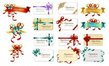 free vector Bow ribbon card vector