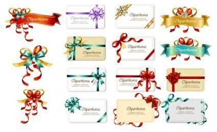 Bow ribbon card vector