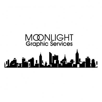 free vector Moonlight graphic services
