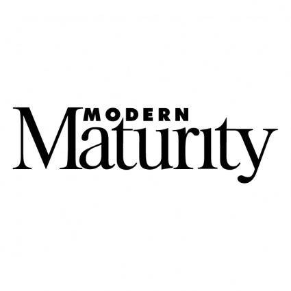 Modern maturity