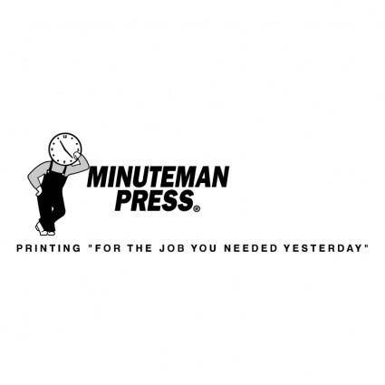free vector Minuteman press 0