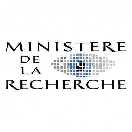 free vector Ministere de la recherche