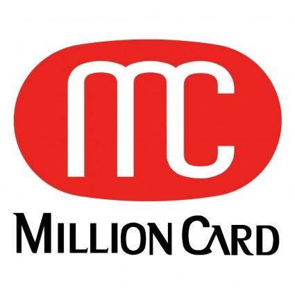 free vector Million card