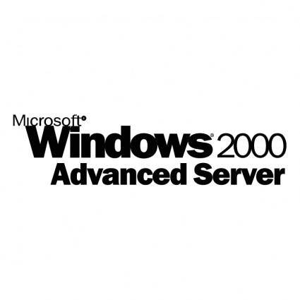 free vector Microsoft windows 2000 advanced server