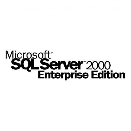 free vector Microsoft sql server 2000