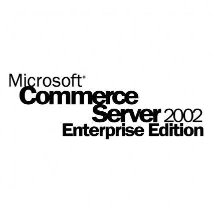free vector Microsoft commerce server 2002