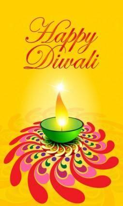 free vector Exquisite diwali card 05 vector
