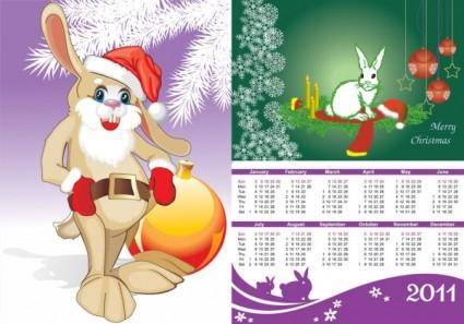 free vector 2011 calendar year of the rabbit vector