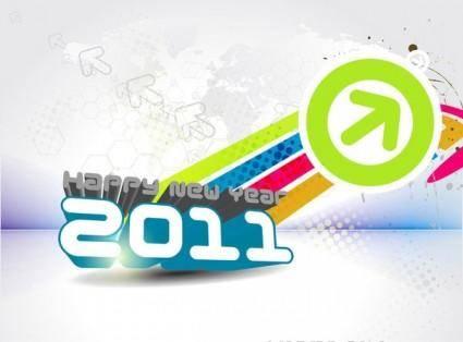 free vector 2011 font design vector 5