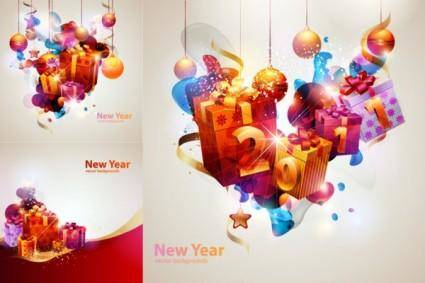 free vector New year theme vector cool glare