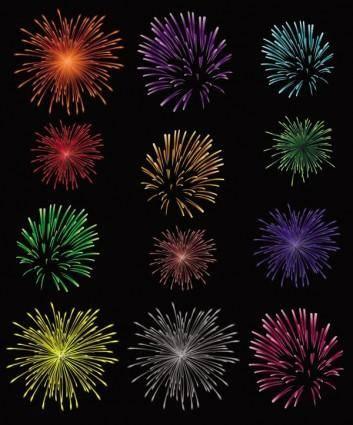 free vector Splendid fireworks fireworks vector 1