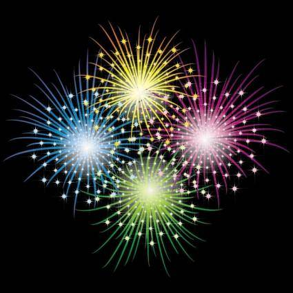 free vector Vector 3 brilliant fireworks fireworks