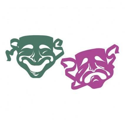 free vector Mardi gras masks