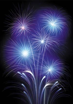 4 bright fireworks fireworks vector