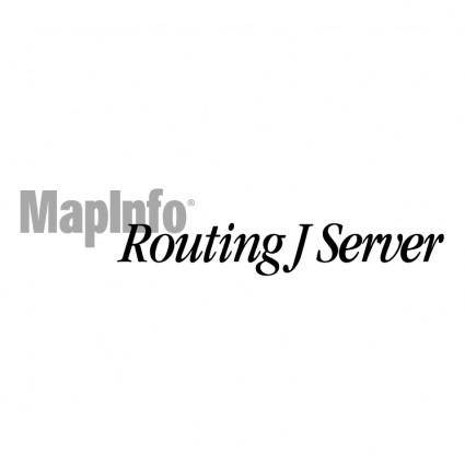 free vector Mapinfo routing j server