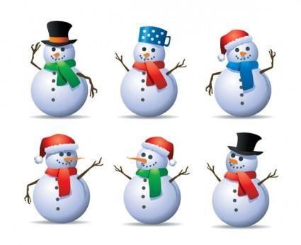 free vector 6 vector snowman