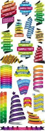 free vector Colorful ribbons vector