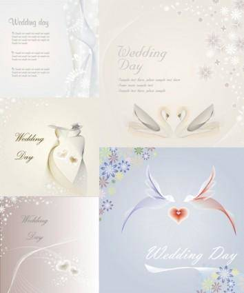 free vector Wedding template vector