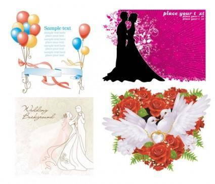 free vector Wedding theme vector