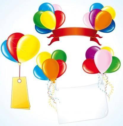 free vector Vector festive balloon