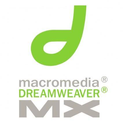 free vector Macromedia dreamweaver mx 0