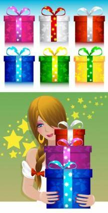 free vector Vector gifts