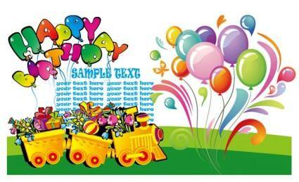 free vector Happy birthday theme vector