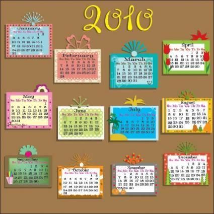 free vector Vector lovely 2010 calendar