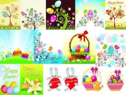 Easter egg series vector