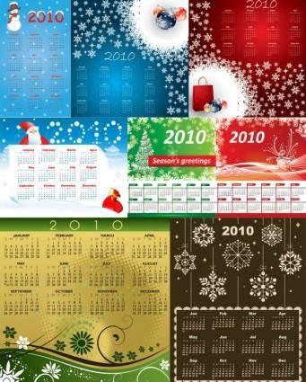 free vector 8 2010 calendar template vector