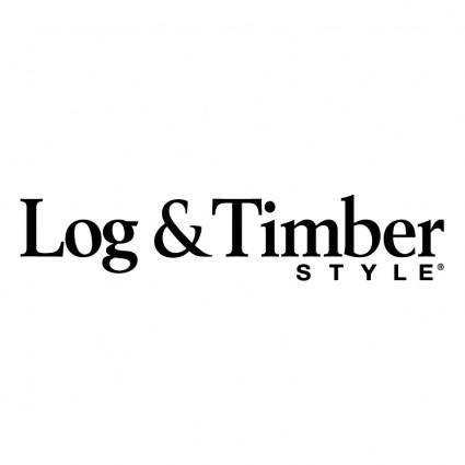 Log timber style