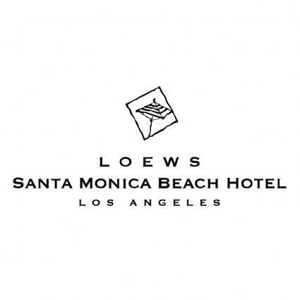 free vector Loews santa monica beach hotel