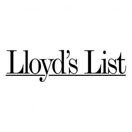 free vector Lloyds list
