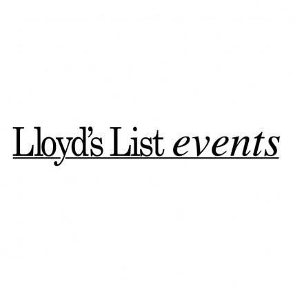 free vector Lloyds list events