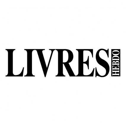 free vector Livres hebdo