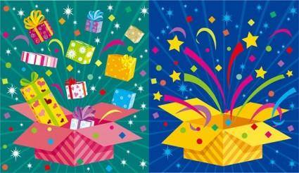 free vector Vector colorful holiday gift