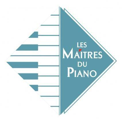 free vector Les maitres du piano