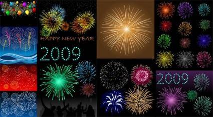 free vector 10 dazzling fireworks vector