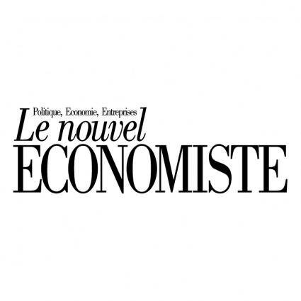 free vector Le nouvel economiste