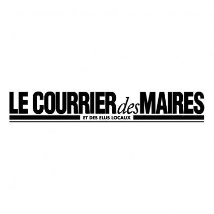 free vector Le courrier des maires