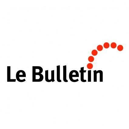 free vector Le bulletin
