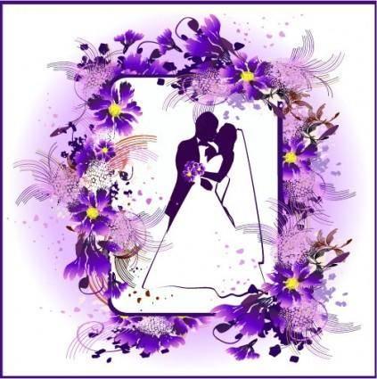 Lace wedding theme vector