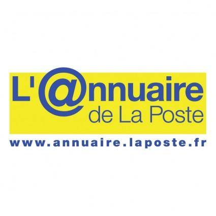free vector Lannuaire de la poste