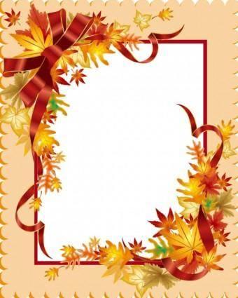 Beautiful leaves card 03 vector