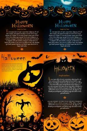 Halloween posters element vector
