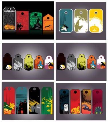 Halloween tag element vector