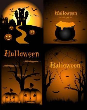 free vector Halloween design elements vector